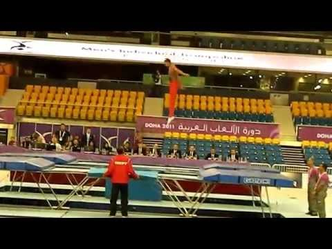 Ahmed Abouelela (2nd Routine) Egypt - Trampoline Arab Games 2011