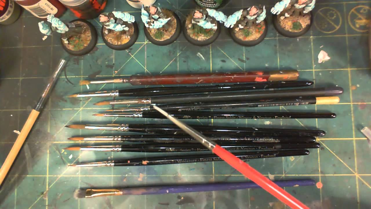 Choosing the right paint brushes for miniature paintingYouTube