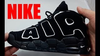 Кроссовки Мужские Nike Air More Uptempo Чёрные Найк Видео Обзор