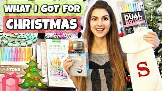 WHAT I GOT FOR CHRISTMAS 2017 | SoCraftastic