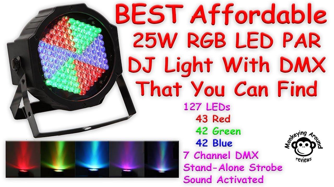 Best Affordable 25w 127 Rgb Led Par Party Light By Solmore Review Colorchanging Bulb Par38 02