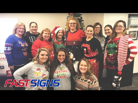 2017 Office Holiday Shenanigans at FASTSIGNS® International, Inc. | FASTSIGNS®