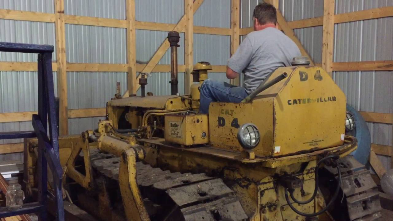 Caterpillar D4 7u First Drive In Many Years