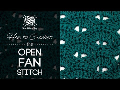 Crochet Stitch Open : How to Crochet the Open Fan Stitch - YouTube