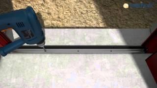 watch now installation einer dryfix zarge von h rmann. Black Bedroom Furniture Sets. Home Design Ideas
