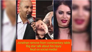 Jonathan  removed from commentary team. Big star talks about his injury . Feud on social media.