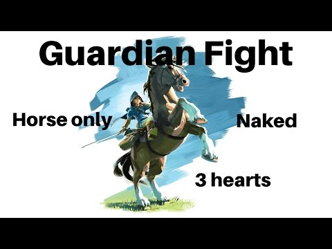 Zelda: Fighting Guardian Naked With Only A Horse And 3 Hearts