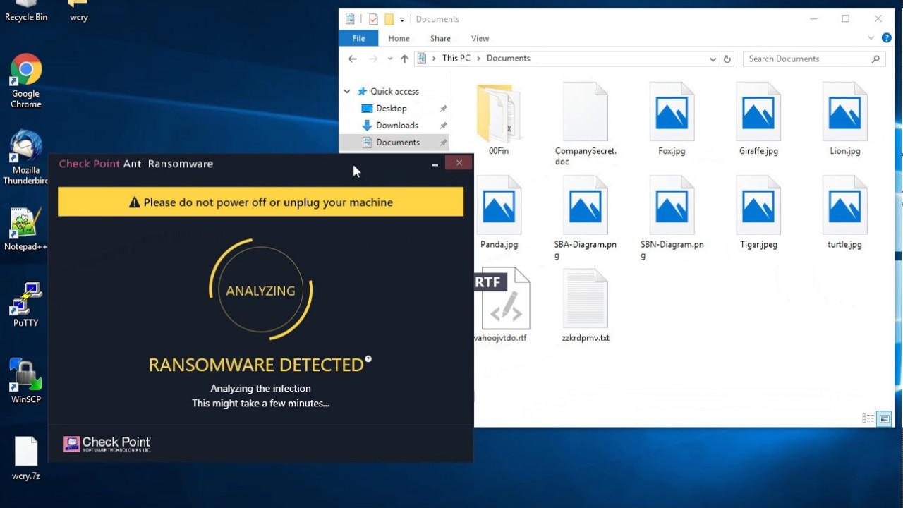 Sandblast Agent WannaCry Ransomware