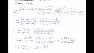 Find the limit of [sqrt(a+2x) - sqrt(3x)] / [sqrt(3a+x) - 2sqrt(x)] as x tends to a.