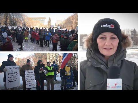 """Canada Is Broken"": Wexit Rally Attendees In Edmonton Brave -20 C Cold | Sheila Gunn Reid"