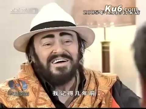 Luciano Pavarotti interview - farewell tour - China (RARE)