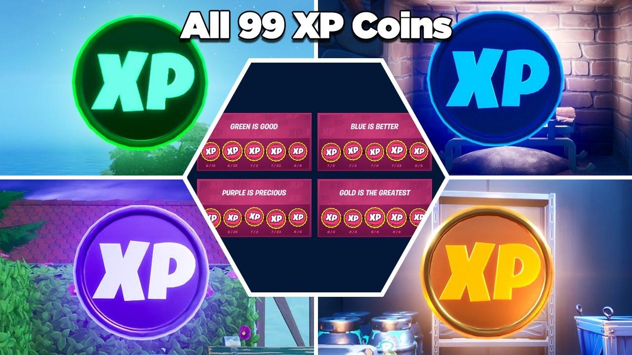All 99 XP Coins Location Guide (Week 1 - Week 10) - Fortnite Chapter 2 Season 3