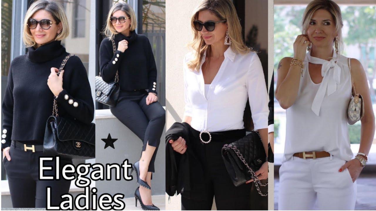 Moda Elegante Para Senoras De 40 Anos Outfits Modernos Para Mujeres De 40 Anos Looks Elegantes 2020 Youtube