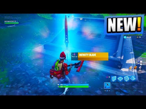 NEW Fortnite INFINITY BLADE GAMEPLAY! OP Sword in Fortnite! (Fortnite Battle Royale) thumbnail