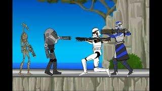 Дройды против клонов - звёздные войны ( рисуем мультфильмы )