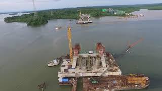 Tidak lama lagi Jembatan Pulau Balang akan selesai