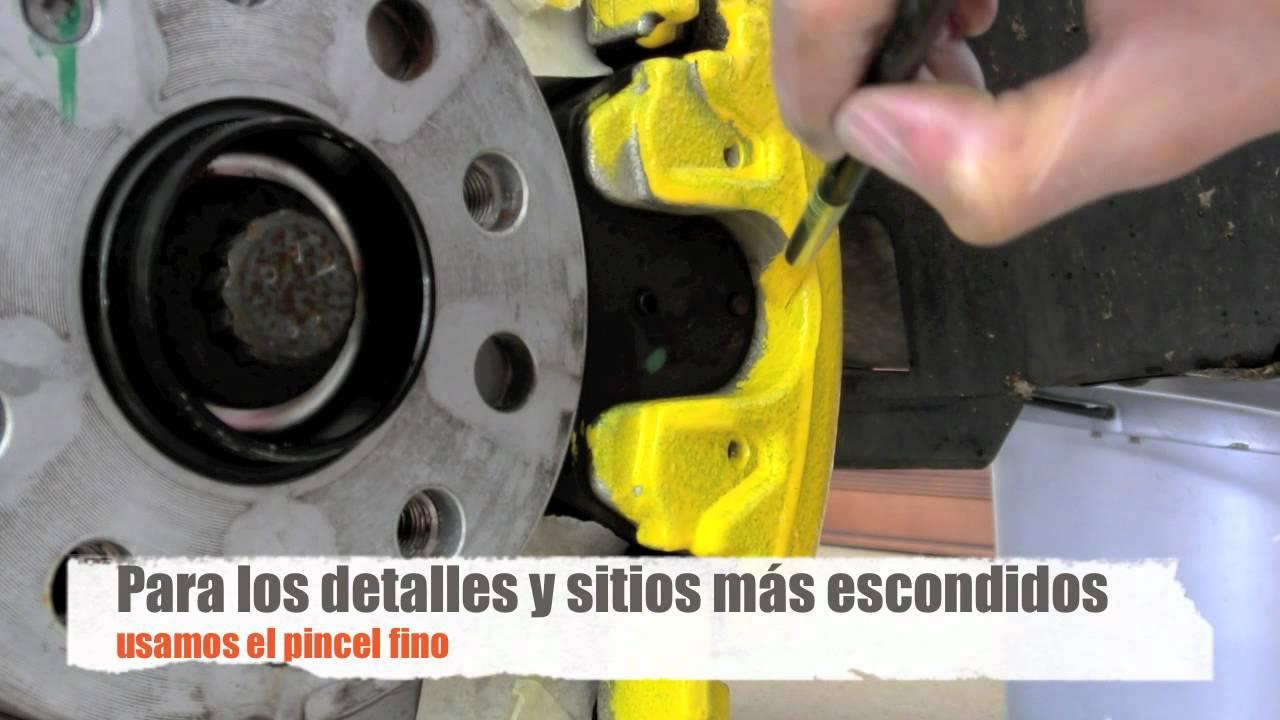 Cómo pintar las pinzas de freno (Scirocco) - YouTube