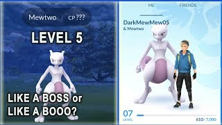 OMG! LEVEL 5 CATCHES MEWTWO LIKE A BOSS IN POKEMON GO