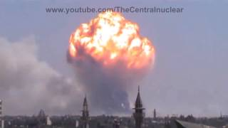 Huge explosions in Syria (compilation 2014)