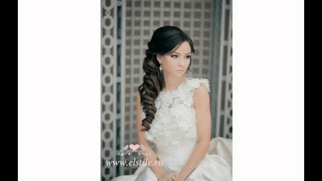 свадебные прически фото с фатой с челкой фото