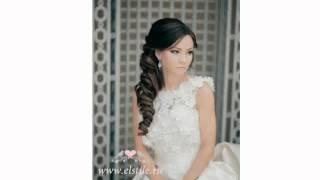 видео Варианты свадебных причесок с фатой и челкой
