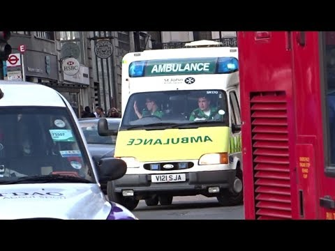 OLD Ford Transit Box Ambulance Responding - St John Ambulance