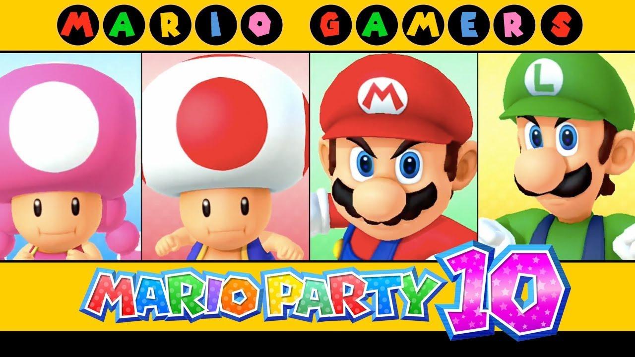 Mario Party 10 - Airship Central (Toad, Toadette, Mario ...