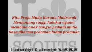 Lirik Mars Pramuka Madrasah.