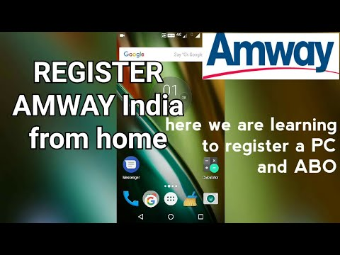 How to learn register an ABO or PC at Amway India In Hindi