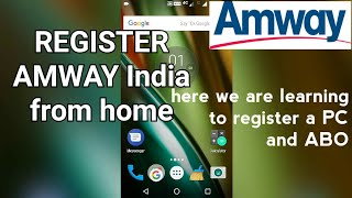 How Learn Register Abo Or Pc Amway India Hindi