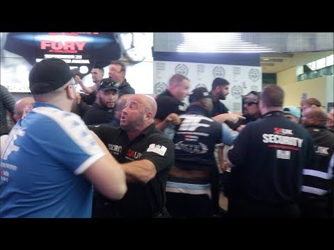 HEAVYWEIGHT BEEF!!  JOSEPH PARKER v HUGHIE FURY CHAOS AS FIGHTERS & TEAMS CLASH DURING WEIGH IN!!