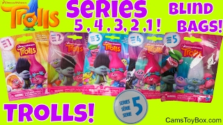 Dreamworks Trolls Series 1 2 3 4 5 Blind Bags Surprise Toys Names Characters Opening Fun Toy