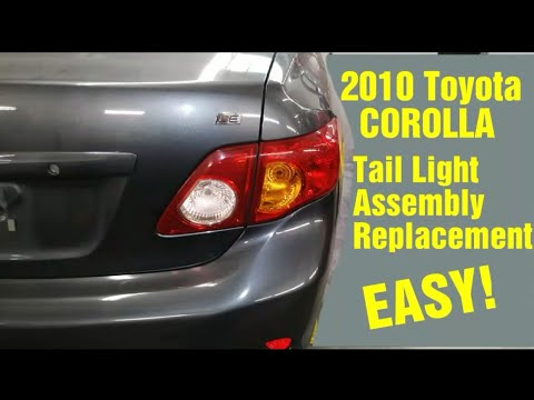 2010 Corolla Tailight Embly Replacement