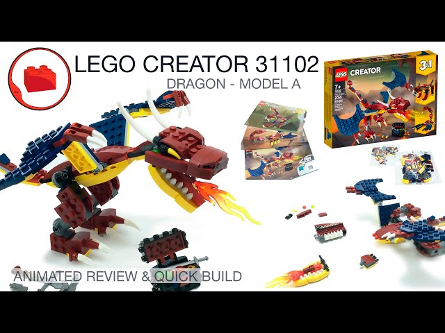 LEGO CREATOR 31102 Fire Dragon - Review & Quick Build Part 1