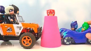 Pj Masks Beads Cups Balls Cars Surprise Toys, Learn Colors with Pj Masks Wrong Heads #2