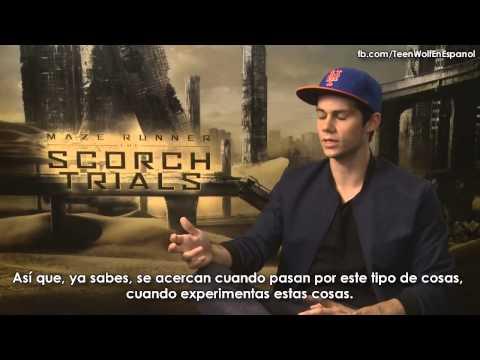 Dylan O'Brien habla de The Scorch Trials y sobre su novia Britt Robertson - Sub. español
