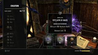 ESO Crafting - Petty Glyph of Health with Ta