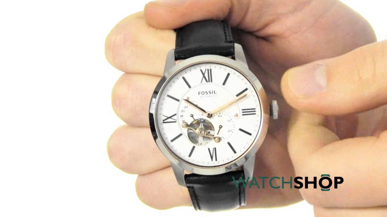 Fossil Mens Townsman Automatic Watch Me3104 Youtube Men
