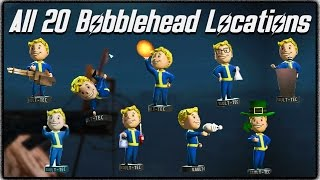 Fallout 4 - ALL 20 BOBBLEHEAD LOCATIONS! (Achievement Guide / Where to Find Them)