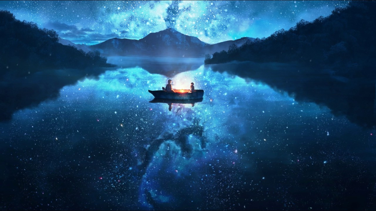 Anime Star Night On Lake Live Wallpaper