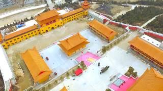 Хуньчунь. Китай. Буддийский храм Линбао. НГ 2018. DJI Phantom 3.