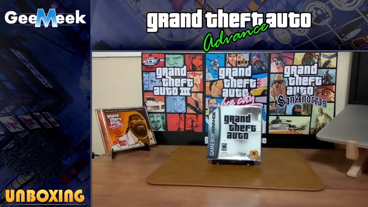 Gta 2 gameboy color - Grand Theft Auto Advance Gameboy Advance First Edition Unboxing