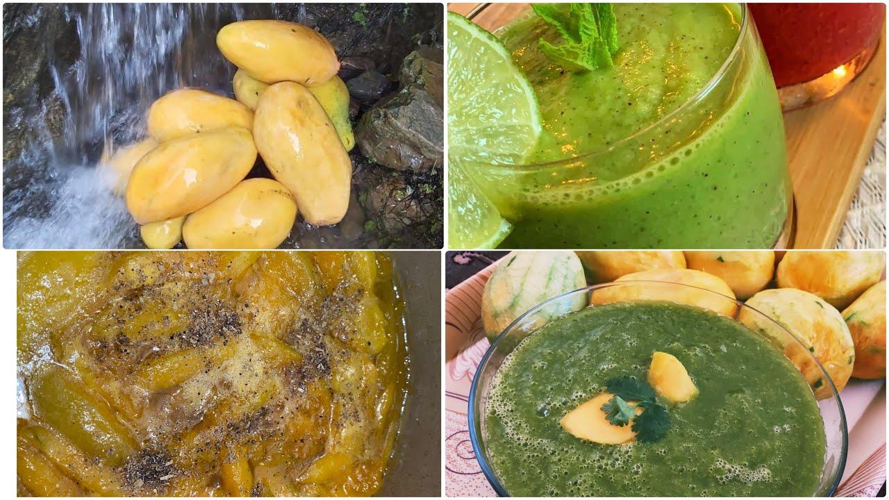 مربای آم و چکنی آم مخصوص تابستان فرمایش خاص از زن بیرادر  جانMango Chutney + Mango jam recipe//