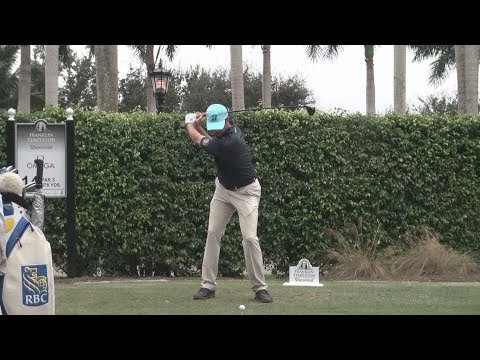 MATT KUCHAR 2013 DRIVER GOLF SWING - FACE-ON & SLOW MOTION  - 1080p HD