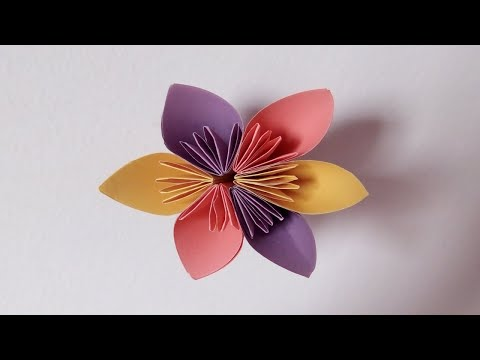 How To Make Origami Flower| Easy DIY Paper Flower | ZINAT Crafts