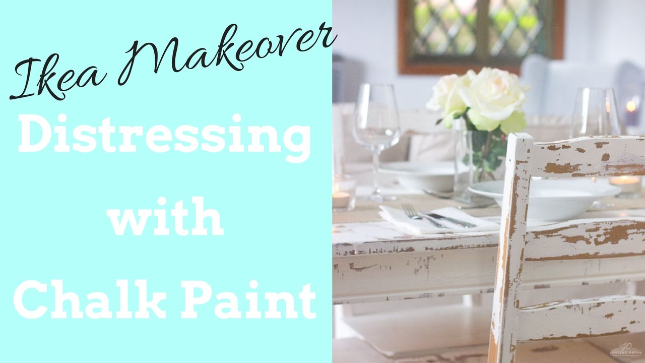 distressing with chalk paint ikea makeover table and chairs youtube