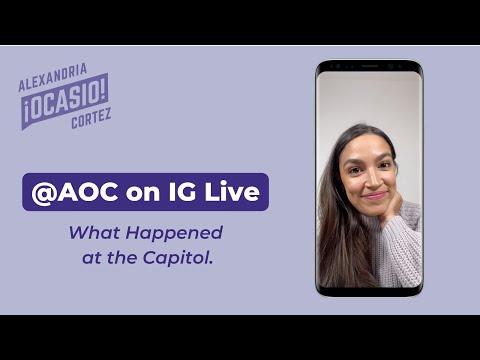 What Happened At The Capitol Instagram Live | Alexandria Ocasio-Cortez