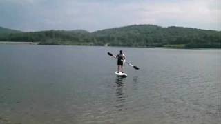 Stand Up Paddle on Windsurfing board