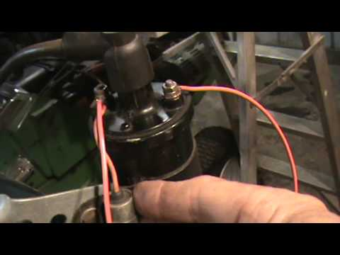 Wiring an external battery coil to your engine on