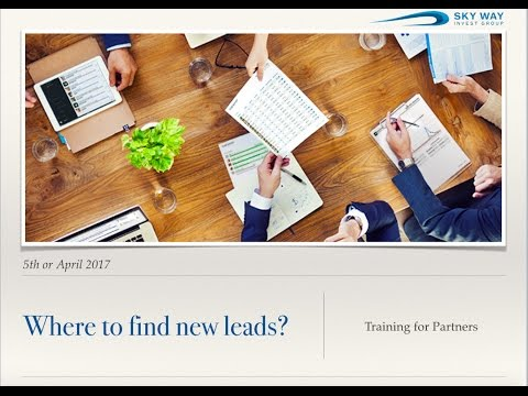 Where to find new & hot leads? Training for Partners SWIG